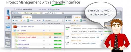 Screenshot of 5pm's interface