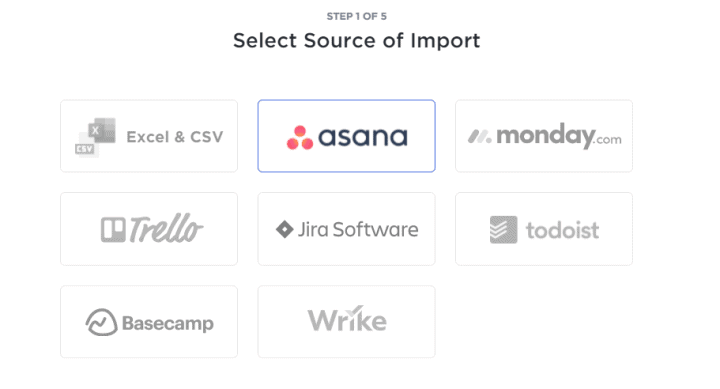 ClickUp Supported Import Sources