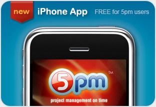 5pm iPhone app