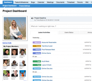 Screenshot of Zoho Projects